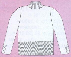Свитер с манжетами косичкой (общий вид)
