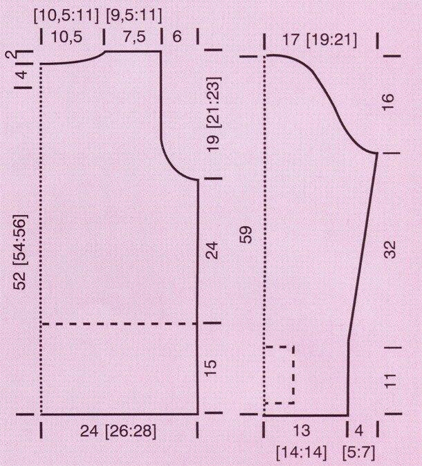 Свитер с манжетами косичкой (схема сборки)