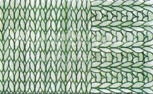 вязание спицами планки